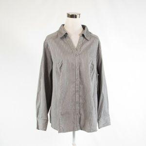 Taupe LANE BRYANT button down blouse 26